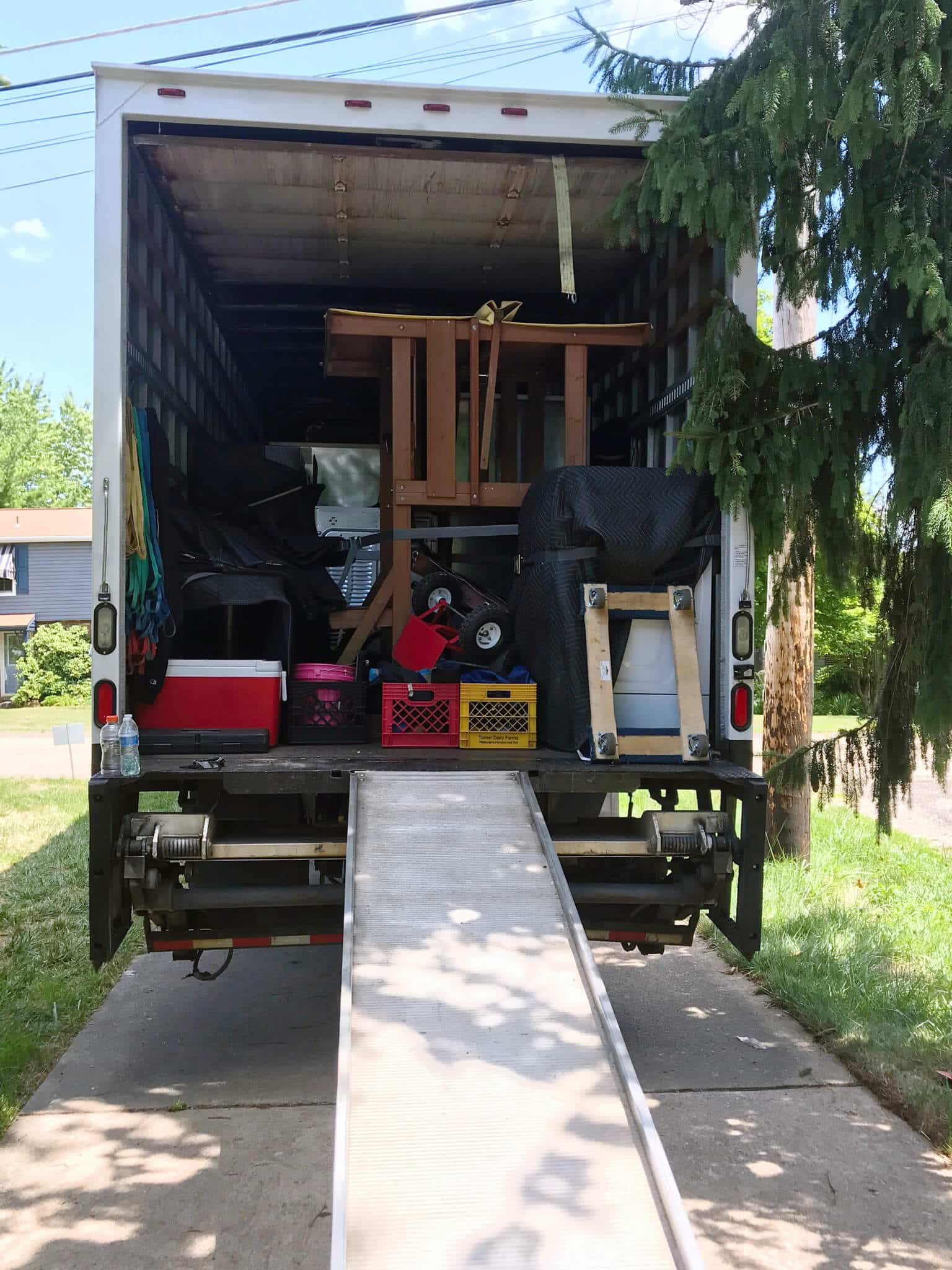 Loaded Truck in Great weather for a move